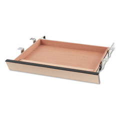Laminate Angled Center Drawer, 22w x 15 3/8d x 2 1/2h, Natural Maple