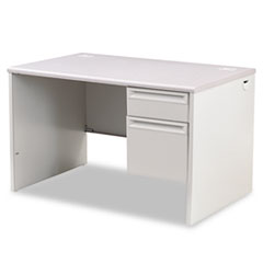 HON® 38000 Series Right Pedestal Desk, 48w x 30d x 29-1/2h, Light Gray