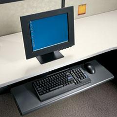 HON® Slide-Away Laminate Keyboard Platform, 21-1/2w x 10d x 1-1/8h, Black