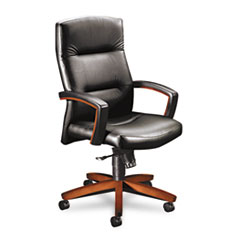 HON® 5000 Series Park Avenue Collection® Executive High-Back Swivel/Tilt Leather Chair Thumbnail