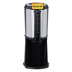 Hormel Thermal Beverage Dispenser, Gravity, 2.5L, Stainless Steel/Black