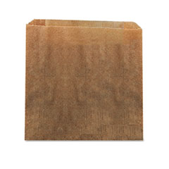 "HOSPECO® Waxed Kraft Liners, 10.5"" x 9.38"", Brown, 250/Carton"
