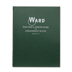 Lesson Plan Book, Wirebound, 6 Class Periods/Day, 11 x 8-1/2, 100 Pages, Green
