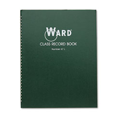 Class Record Book, 38 Students, 6-7 Week Grading, 11 x 8-1/2, Green