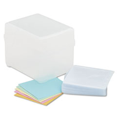 CD/DVD Storage Box, Holds 100 Discs, Clear