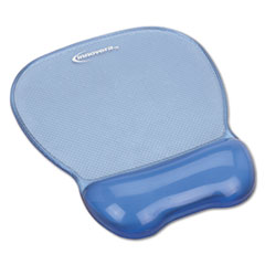 Innovera® Gel Mouse Pad w/Wrist Rest, Nonskid Base, 8-1/4 x 9-5/8, Blue