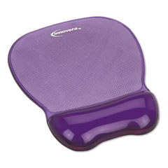 Innovera® Gel Mouse Pad w/Wrist Rest, Nonskid Base, 8-1/4 x 9-5/8, Purple