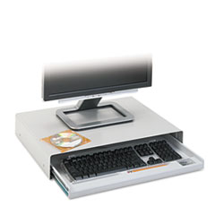 Standard Desktop Keyboard Drawer, 20.63w x 10d, Light Gray