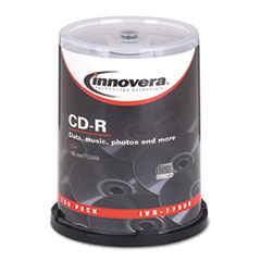 CD-R Discs, 700MB/80min, 52x, Spindle, Silver, 100/Pack