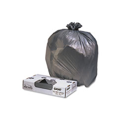 "Jaguar Plastics® Industrial Strength Low-Density Commercial Can Liners, 56 gal, 1.7 mil, 43"" x 47"", Black, 100/Carton"