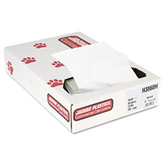 "Jaguar Plastics® Industrial Strength Commercial Can Liners Flat Pack, 60 gal, 13 microns, 38"" x 60"", Natural, 200/Carton"