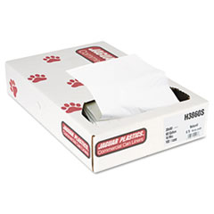 "Jaguar Plastics® Industrial Strength Commercial Can Liners Flat Pack, 60 gal, 16 microns, 38"" x 60"", Natural, 100/Carton"