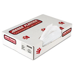 "Jaguar Plastics® Industrial Strength Commercial Can Liners Flat Pack, 56 gal, 16 microns, 43"" x 48"", Natural, 200/Carton"