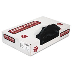 "Jaguar Plastics® Industrial Strength Low-Density Commercial Can Liners, 30 gal, 0.65 mil, 30"" x 36"", Black, 200/Carton"