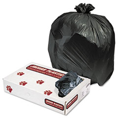 "Jaguar Plastics® Industrial Strength Low-Density Commercial Can Liners, 33 gal, 0.6 mil, 33"" x 39"", Black, 200/Carton"