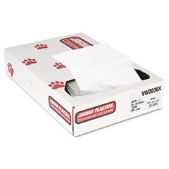 "Jaguar Plastics® Industrial Strength Low-Density Commercial Can Liners, 30 gal, 0.7 mil, 30"" x 36"", White, 200/Carton"