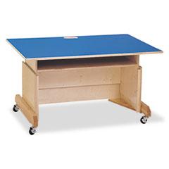 Computer Table, 42w x 29d x 30h, Blue