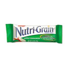 Kellogg's® Nutri-Grain Cereal Bars, Apple-Cinnamon, Indv Wrapped 1.3oz Bar, 16/Box