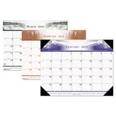House of Doolittle™ 100% Recycled One-Color Photo Monthly Desk Pad Calendar Thumbnail