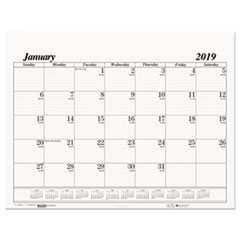House of Doolittle™ 100% Recycled One-Color Dated Monthly Desk Pad Calendar Refill Thumbnail