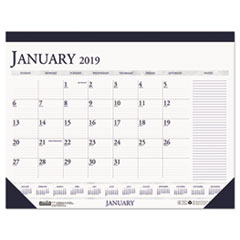 House of Doolittle™ 100% Recycled Two-Color Monthly Desk Pad Calendar with Large Notes Section Thumbnail