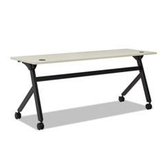 Multipurpose Table Flip Base Table, 72w x 24d x 29 3/8h, Light Gray