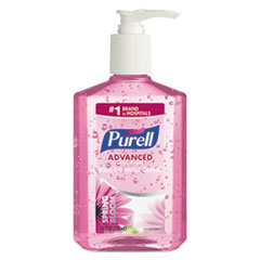 PURELL® Spring Bloom Instant Hand Sanitizer, 8 oz Pump Bottle, Pink, 12/Carton