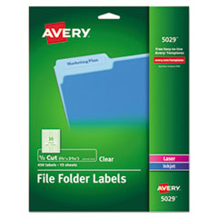 Avery® Clear Permanent File Folder Labels Thumbnail