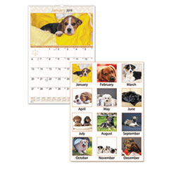 AT-A-GLANCE® Puppies Monthly Wall Calendar Thumbnail