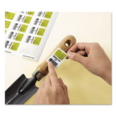 Removable Durable White Rectangle Labels, Inkjet/Laser Printers, 1.25 x 1.75, White, 32/Sheet, 8 Sheets/Pack