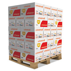 Universal® Copy Paper, 92 Bright, 20lb, 8.5 x 11, White, 500 Sheets/Ream, 10 Reams/Carton, 40 Cartons/Pallet