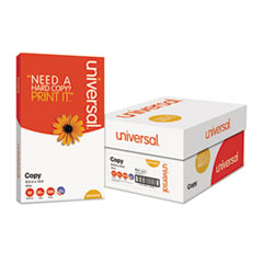 Universal® Copy Paper, 92 Bright, 20lb, 8.5 x 14, White, 500 Sheets/Ream, 10 Reams/Carton