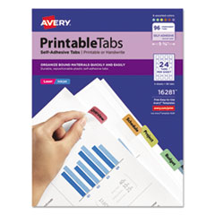 Avery® Printable Plastic Tabs with Repositionable Adhesive Thumbnail
