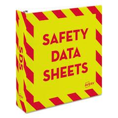 Avery® Heavy-Duty Preprinted Safety Data Sheet Binder
