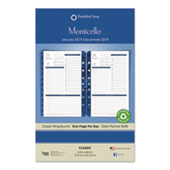 FranklinCovey® Monticello Dated One Page-per-Day Planner Refill Thumbnail