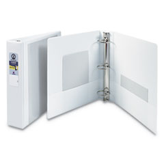 "Economy View Binder with Round Rings , 3 Rings, 2"" Capacity, 11 x 8.5, White"