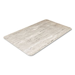 Crown Cushion-Step Surface Mat, 36 x 60, Marbleized Rubber, Gray