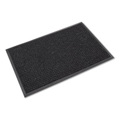 Crown Super-Soaker Wiper Mat with Gripper Bottom, Polypropylene, 46 x 72, Charcoal