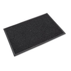 Crown Super-Soaker Wiper Mat with Gripper Bottom, Polypropylene, 36 x 60, Charcoal