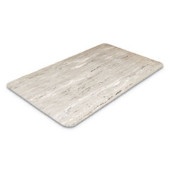 Crown Cushion-Step Surface Mat, 36 x 72, Marbleized Rubber, Gray