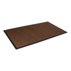 Crown Super-Soaker Wiper Mat with Gripper Bottom, Polypropylene, 36 x 120, Dark Brown