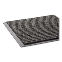 Crown Needle Rib Wipe and Scrape Mat, Polypropylene, 36 x 120, Gray