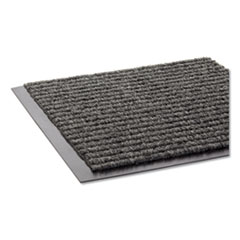 Crown Needle Rib Wipe and Scrape Mat, Polypropylene, 48 x 72, Gray