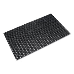 Crown Safewalk Heavy-Duty Anti-Fatigue Drainage Mat, General Purpose, 36 x 60, Black