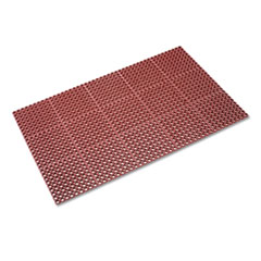 Crown Safewalk Heavy-Duty Anti-Fatigue Drainage Mat, Grease-Proof, 36 x 60, Terra Cotta
