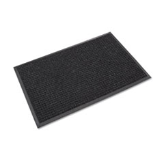 Crown Super-Soaker Wiper Mat with Gripper Bottom, Polypropylene, 24 x 36, Charcoal