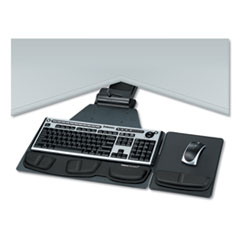 Fellowes® Professional Corner Executive Keyboard Tray, 19w x 14.75d, Black