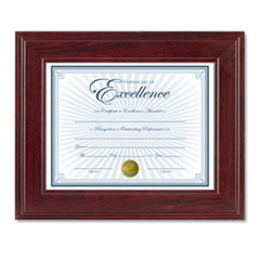 DAX® Executive Document/Photo Frame, Desk/Wall Mount, Plastic, 8 1/2 x 11, Mahogany