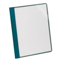 Oxford™ Earthwise by Oxford Recycled Clear Front Report Covers, Letter Size, Blue, 25/BX