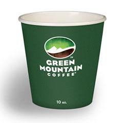 Paper Hot Cups, 10 oz, Green Mountain Design, Multicolor, 1,000/Carton